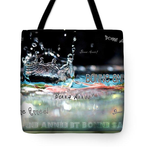 Bonne Annee Card Tote Bag by Lisa Knechtel