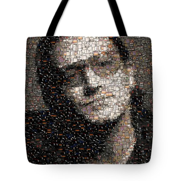 Bono U2 Albums Mosaic Tote Bag by Paul Van Scott