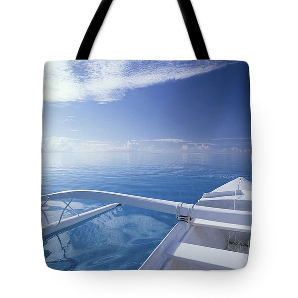 Bora Bora, Outrigger Tote Bag by Joe Carini - Printscapes