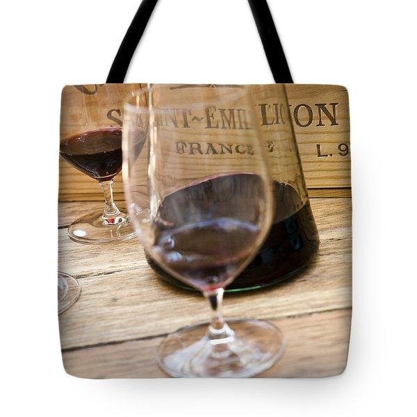 Bordeaux Wine Tasting Tote Bag by Frank Tschakert