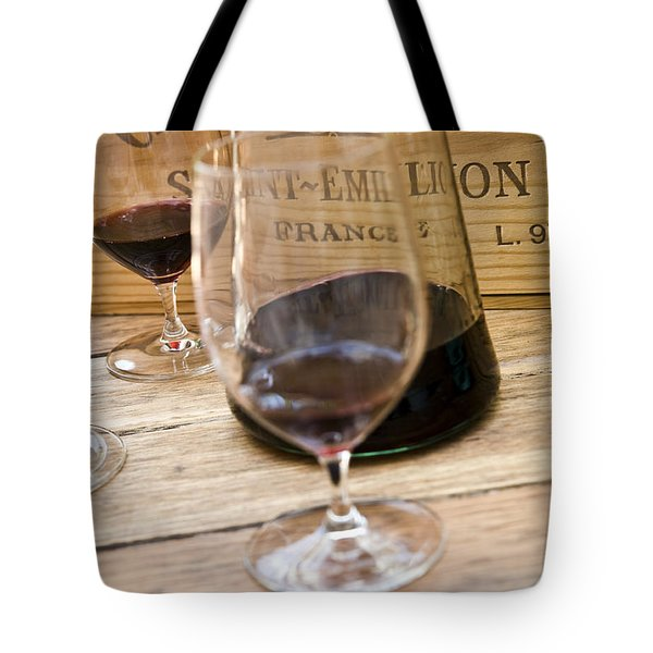 Bordeaux Wine Tasting Tote Bag by Frank Tschakert