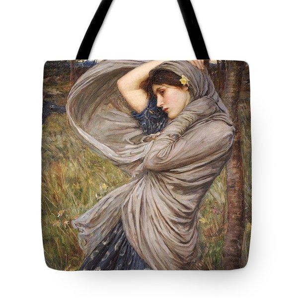 Boreas Tote Bag by John William Waterhouse