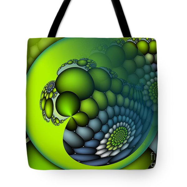 Born To Be Green Tote Bag by Jutta Maria Pusl