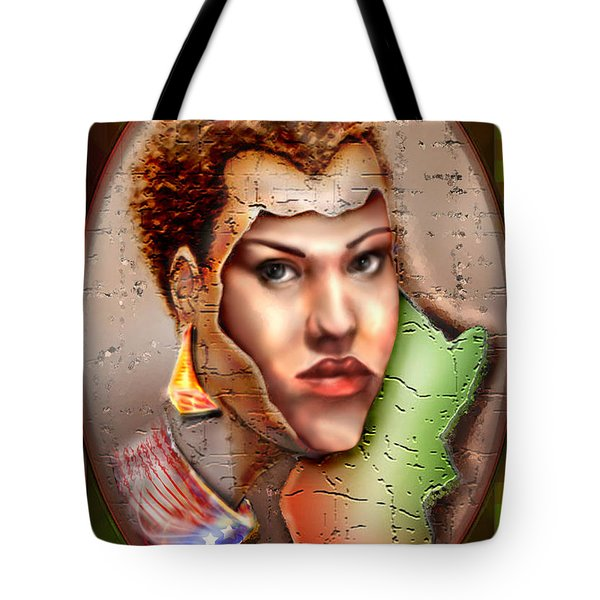 Borne A Nation Tote Bag by Reggie Duffie