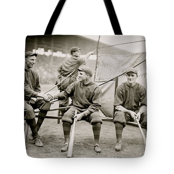 Boston Baseball Players   Gowdy, Tyler, Connolly Tote Bag by American School