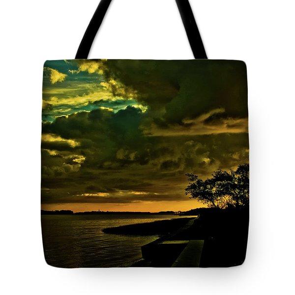 Boston Bay Sunrise Tote Bag by Albert Seger