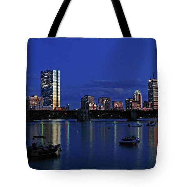 Boston City Lights Tote Bag by Juergen Roth