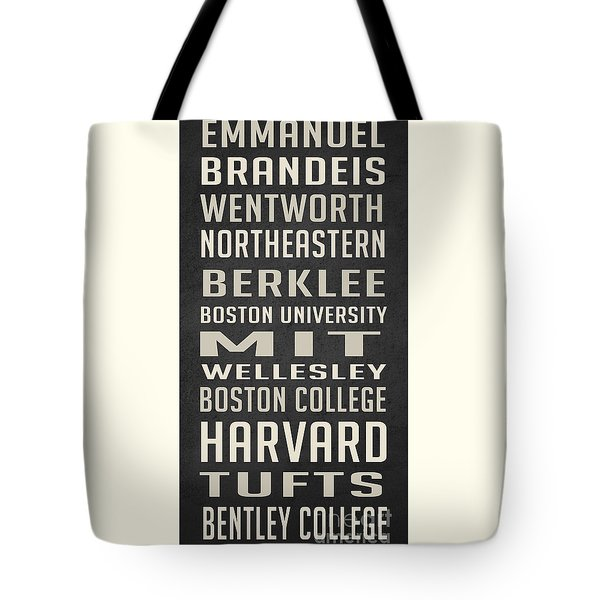 Boston Colleges Poster Tote Bag by Edward Fielding