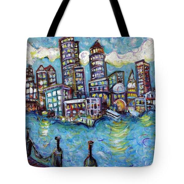 Boston Harbor Tote Bag by Jason Gluskin