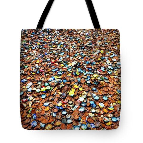 Bottlecap Alley Tote Bag by David Morefield