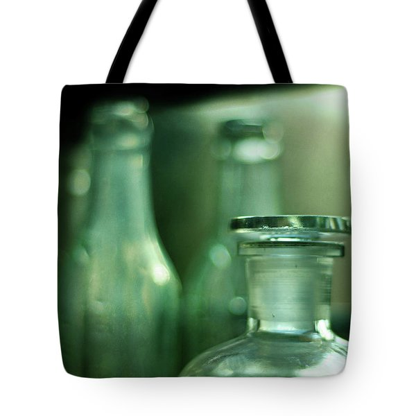 Bottles In The Window Tote Bag by Rebecca Sherman