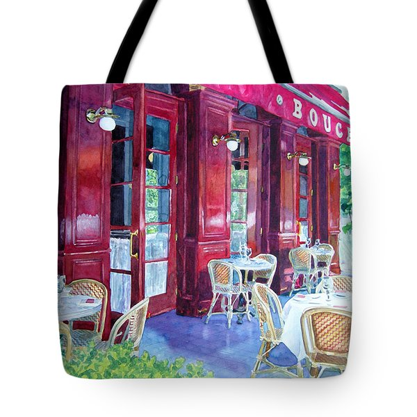 Bouchon Restaurant Outside Dining Tote Bag by Gail Chandler