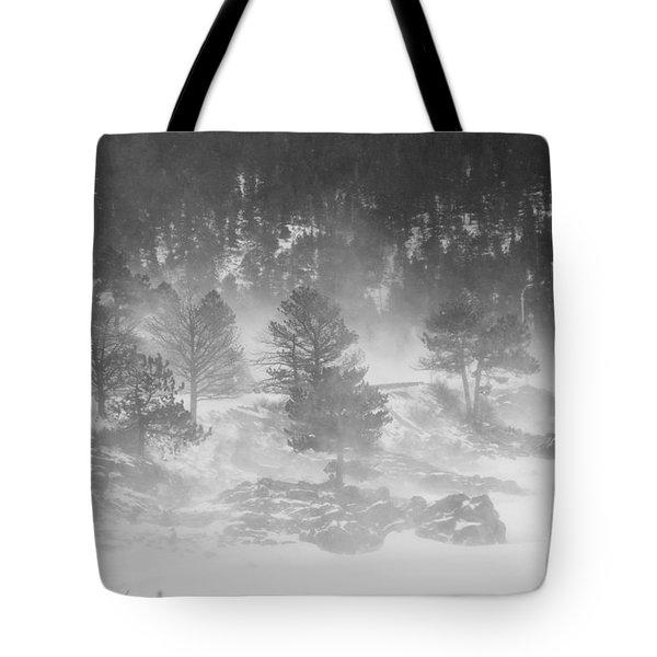Boulder Canyon And Nederland Winter Landscape Tote Bag by James BO  Insogna