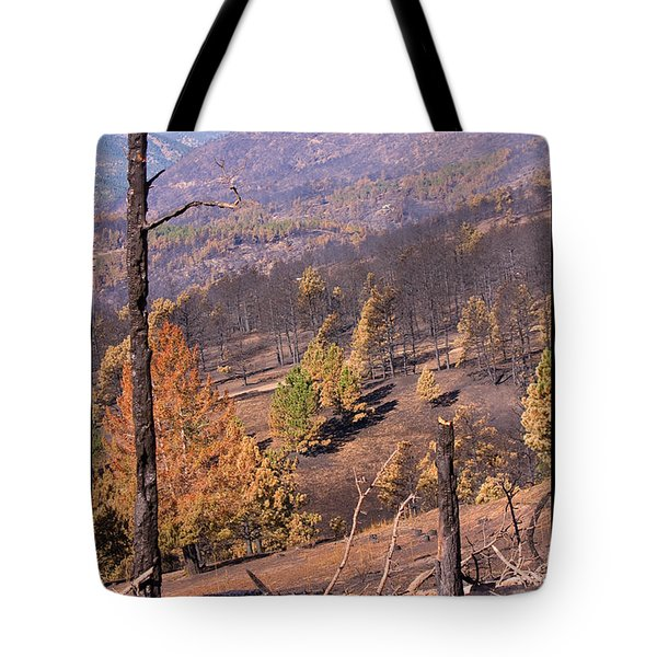Boulder County Wildfire 5 Miles West Of Downtown Boulder Tote Bag by James BO  Insogna