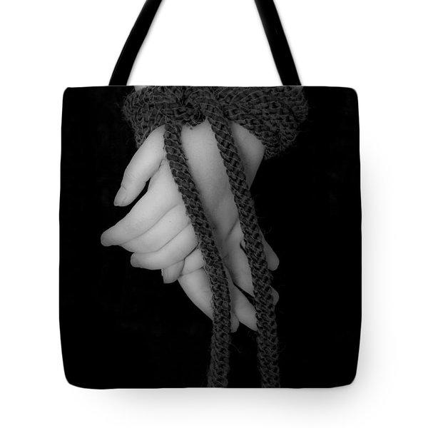 Bound Hands Tote Bag by Joana Kruse