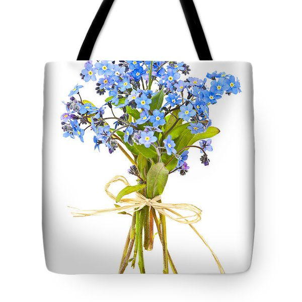Bouquet of forget-me-nots Tote Bag by Elena Elisseeva