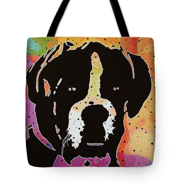 Boxer Tote Bag by Nancy Aurand-Humpf