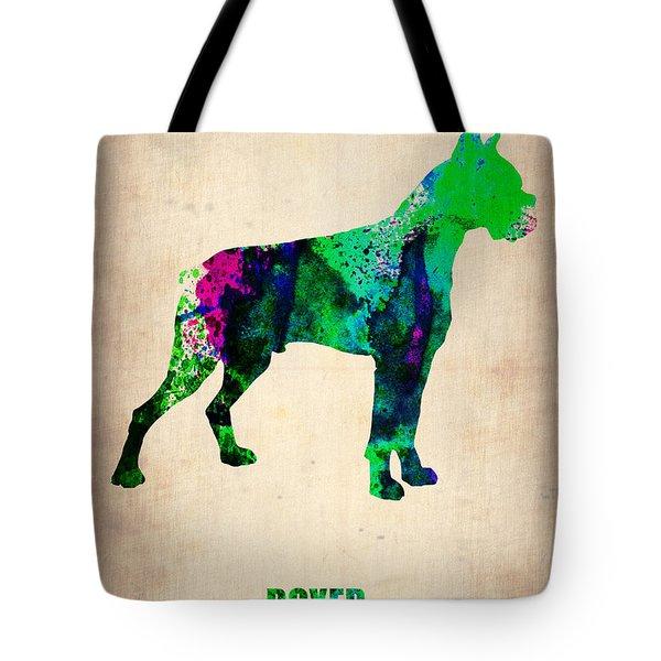 Boxer Poster Tote Bag by Naxart Studio