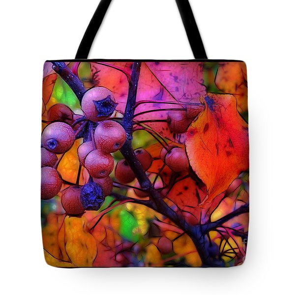 Bradford Pear in Autumn Tote Bag by Judi Bagwell