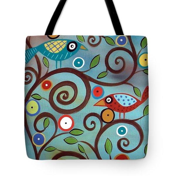 Branch Birds Tote Bag by Karla Gerard