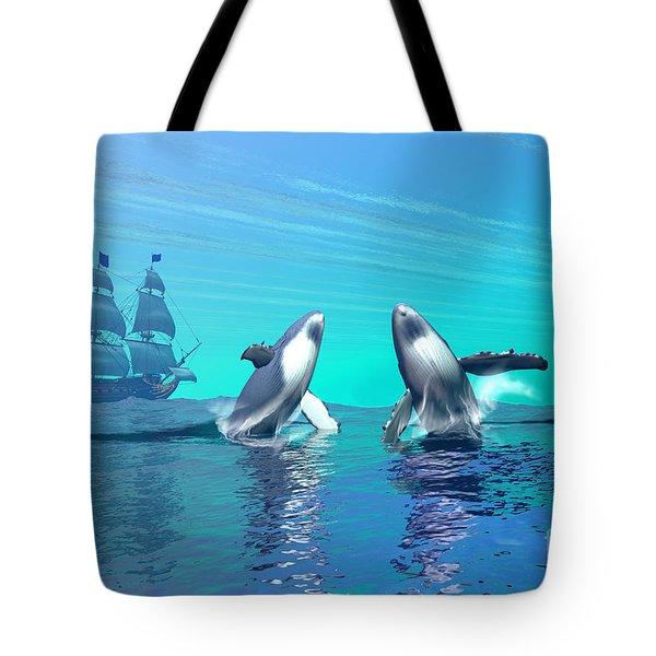 Breaching Tote Bag by Corey Ford