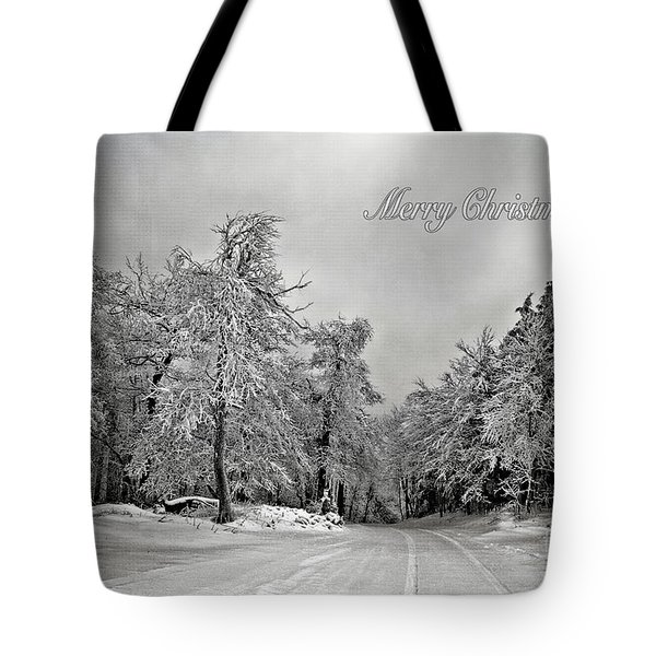 Break In The Storm Christmas Card Tote Bag by Lois Bryan