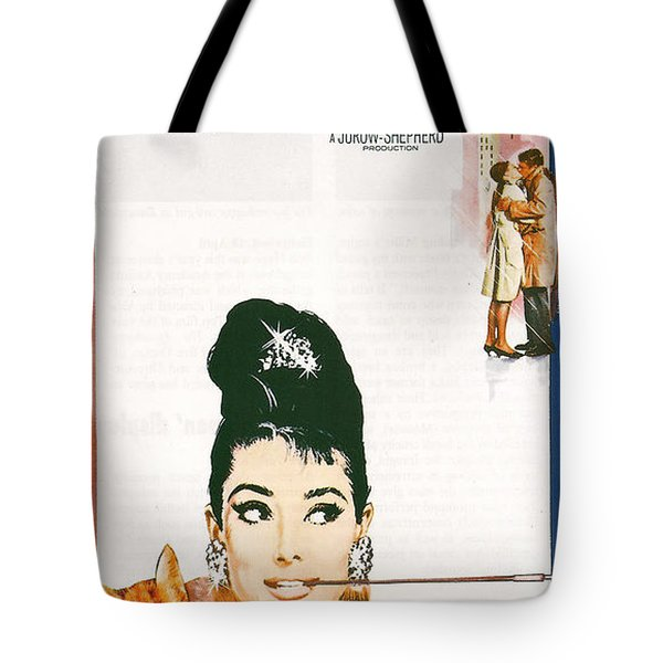 Breakfast At Tiffany's Tote Bag by Georgia Fowler