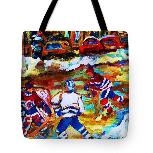 Breaking  The Ice Tote Bag by Carole Spandau