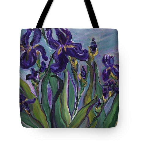 Breath Of Iris Tote Bag by Bev Veals