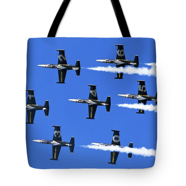Breitling Air Display Team L-39 Albatross Tote Bag by Nir Ben-Yosef