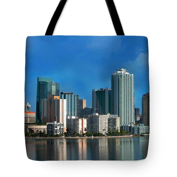 Brickell Skyline 2 Tote Bag by Bibi Romer
