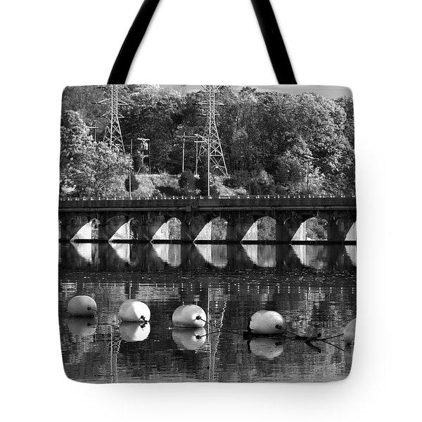 Bridge Reflection Tote Bag by Karol Livote