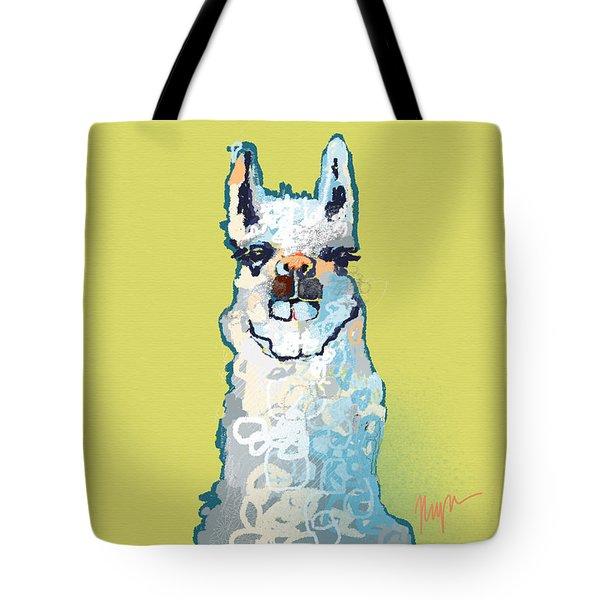 Bright Mustard Llama Tote Bag by Niya Christine