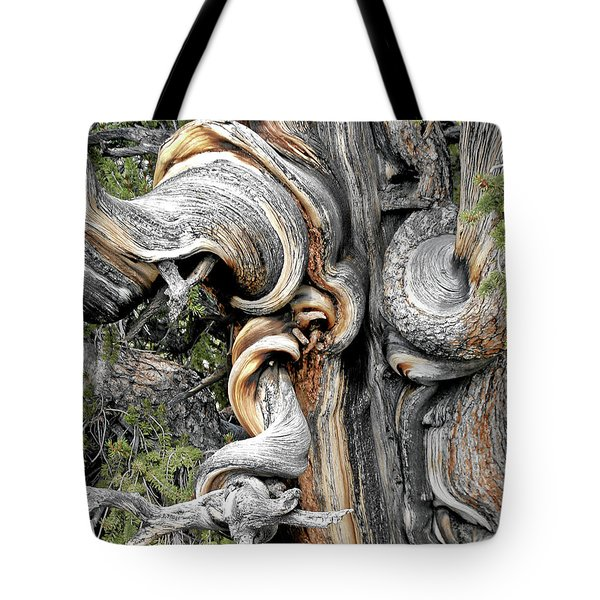 Bristlecone Pine - 'i Am Not Part Of History - History Is Part Of Me' Tote Bag by Christine Till