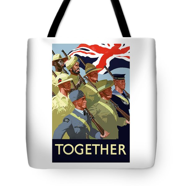 British Empire Soldiers Together Tote Bag by War Is Hell Store