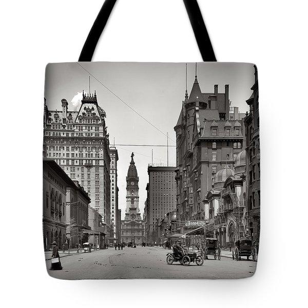 Broad Street Philadelphia 1905 Tote Bag by Bill Cannon
