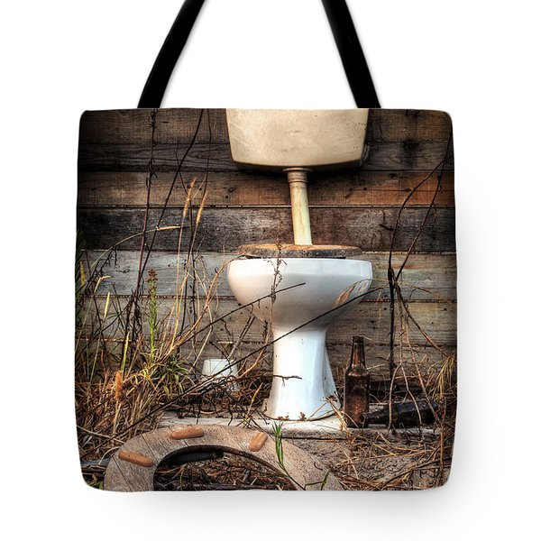 Broken Toilet Tote Bag by Carlos Caetano