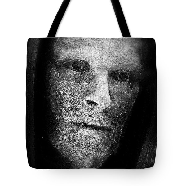 Bronze Face Tote Bag by Perry Webster