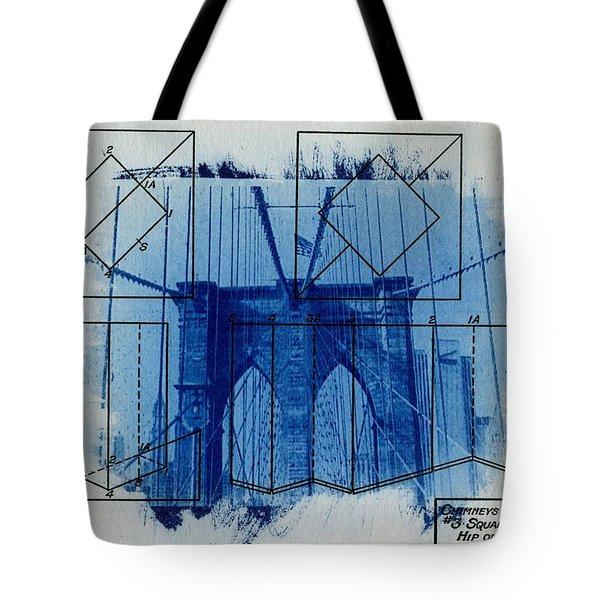 Brooklyn Bridge Tote Bag by Jane Linders