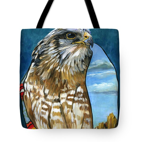 Brother Hawk Tote Bag by J W Baker
