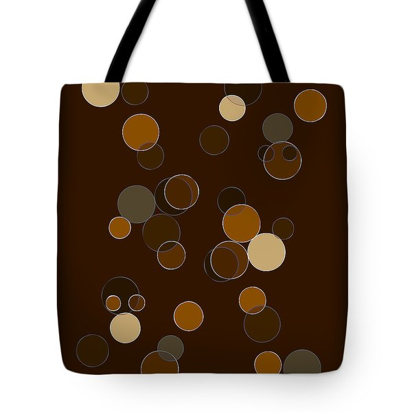 Brown Abstract Tote Bag by Frank Tschakert