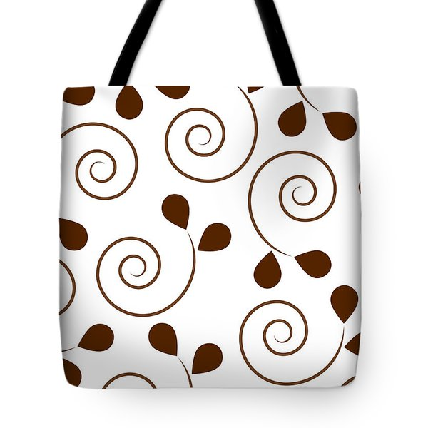 Brown Floral Tote Bag by Frank Tschakert