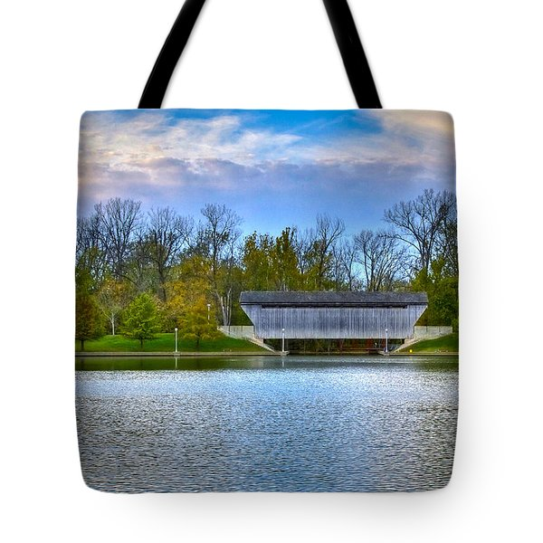 Brownsville Covered Bridge Tote Bag by Jack R Perry