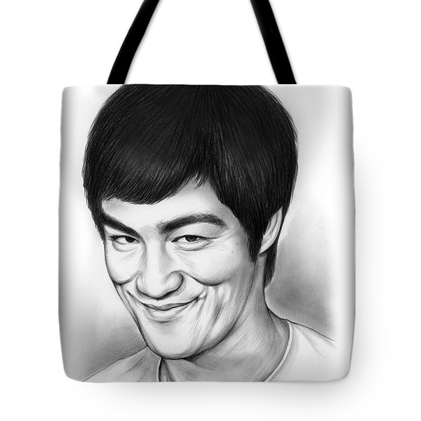 Bruce Lee Tote Bag by Greg Joens