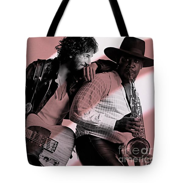 Bruce Springsteen Clarence Clemons Tote Bag by Marvin Blaine