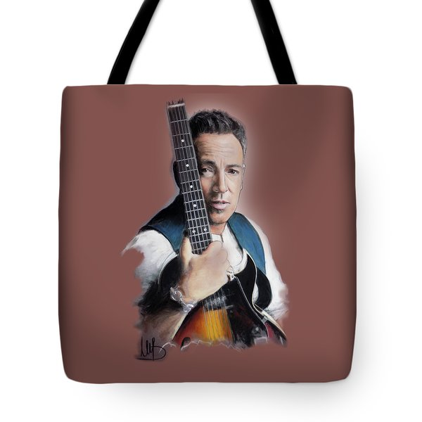 Bruce Springsteen Tote Bag by Melanie D