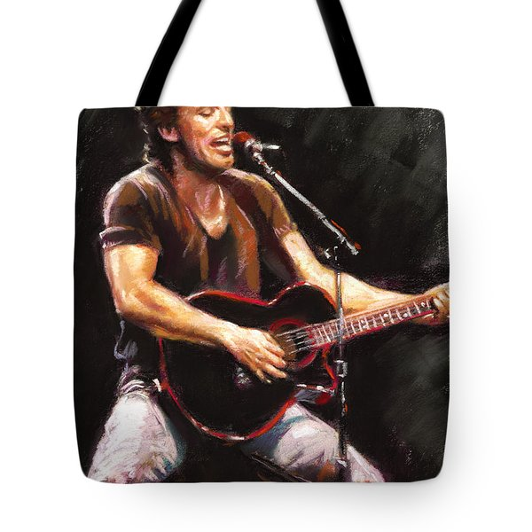Bruce Springsteen  Tote Bag by Ylli Haruni