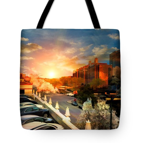 Brush Creek Kansas City Missouri Tote Bag by Liane Wright