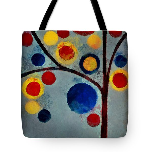 Bubble Tree - Dps02c02f - Left Tote Bag by Variance Collections