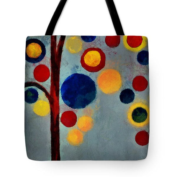 Bubble Tree - dps02c02f - Right Tote Bag by Variance Collections
